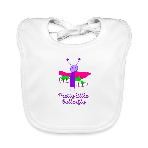 Pretty little butterfly, purple - Bio-slabbetje voor baby's