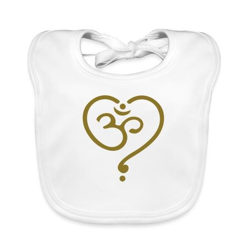 OM Symbol Herz Yoga Liebe Spiritualität Meditation - Baby Bio-Lätzchen