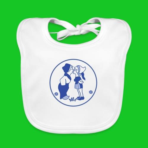 Delfts blauw kussend sexy boerinnetje - Bio-slabbetje voor baby's