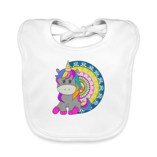 Unicorno Mandala - Bavaglino ecologico per neonato