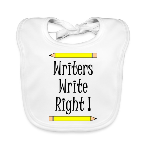Writers Write Right - Baby Organic Bib