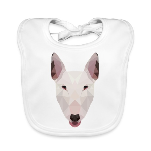 English Bull Terrier Artwork - Baby Organic Bib