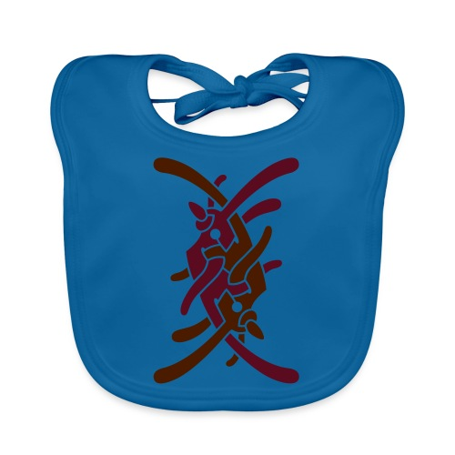 Lille logo på bryst - Hagesmække af økologisk bomuld