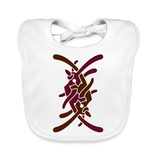 Stort logo på bryst - Baby økologisk hagesmæk