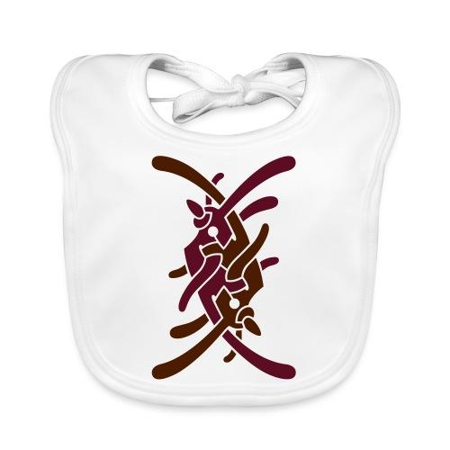 Stort logo på bryst - Hagesmække af økologisk bomuld