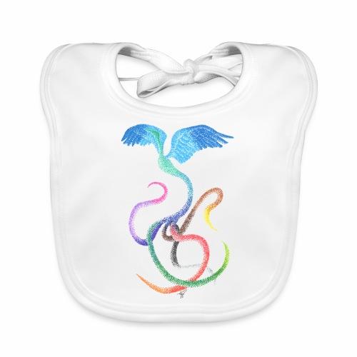 Graceful - Rainbow Bird in Ink - Baby Organic Bib