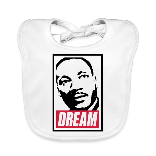 Obey x Dream MLK 2c_blanc - Bavoir bio Bébé