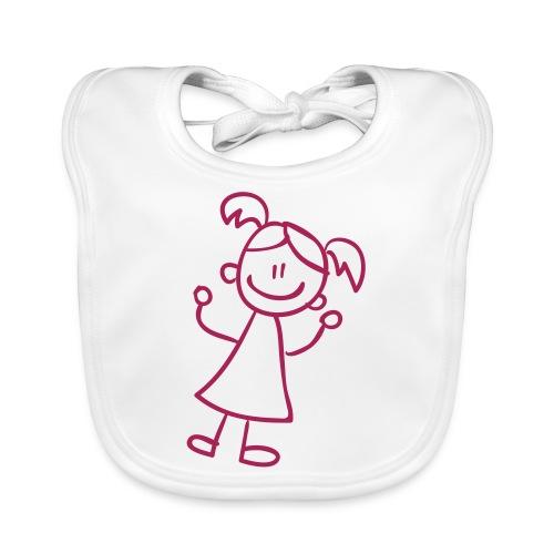 Woman Line Drawing Pixellamb - Baby Bio-Lätzchen