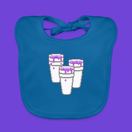 Purple - Bavaglino ecologico per neonato