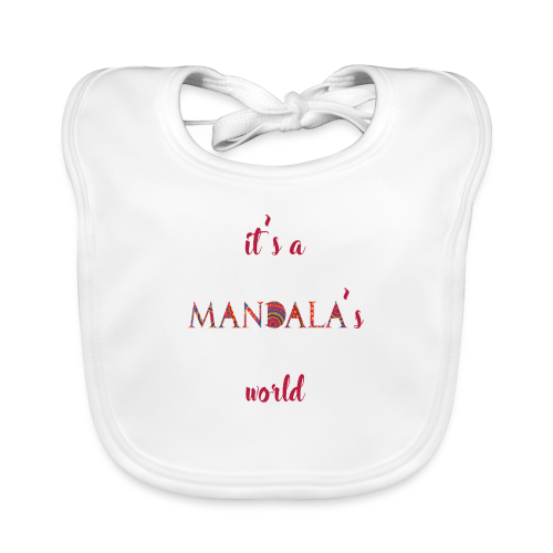 It's a mandala's world - Baby Organic Bib