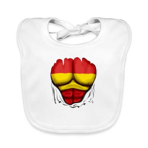 España Flag Ripped Muscles six pack chest t-shirt - Baby Organic Bib