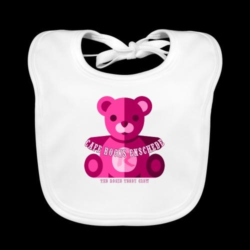 Rocks Teddy Bear - Pink - Bio-slabbetje voor baby's
