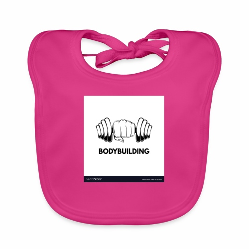 Bodybuilding, kropps byggare - Ekologisk babyhaklapp