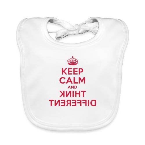 keep calm and think different - Baby Bio-Lätzchen