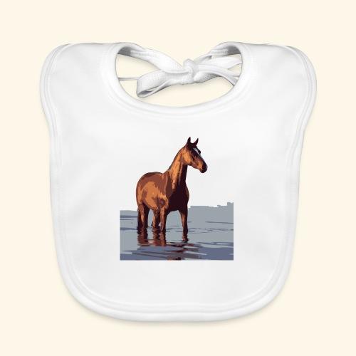pferd im wasser - Baby Bio-Lätzchen