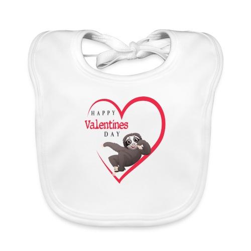 Sloth Valentines Day - Baby Bio-Lätzchen