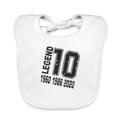 Legend 10 - Babero de algodón orgánico para bebés