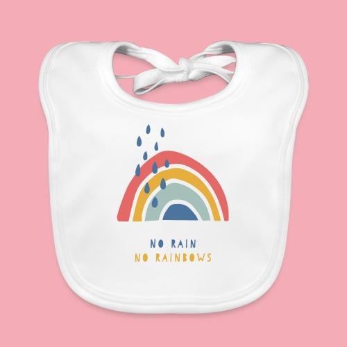 No Rain No Rainbows - Baby Bio-Lätzchen