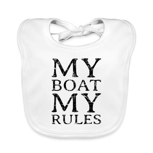 My Boat my Rules Segelspruch für Skipper - Baby Bio-Lätzchen