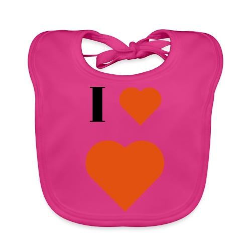 I Heart heart - Organic Baby Bibs
