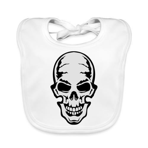 gothic gothique tete mort skull dead 106 - Bavoir bio Bébé