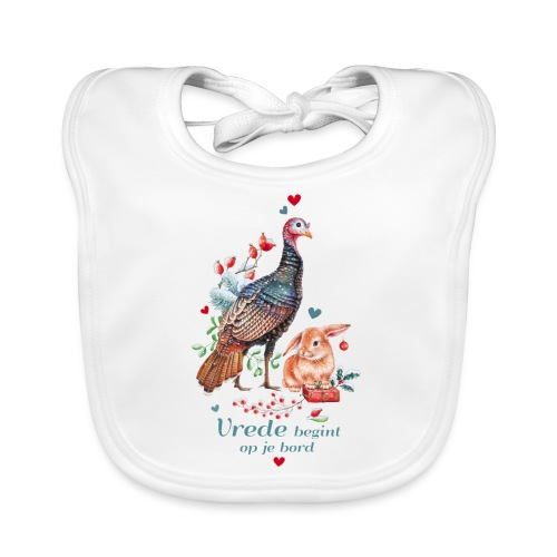 Peace begins on your plate - Organic Baby Bibs