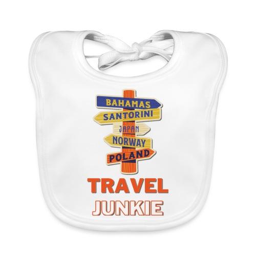 traveljunkie - i like to travel - Baby Bio-Lätzchen