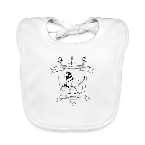 Naisten t-paita, musta logo - Vauvan luomuruokalappu