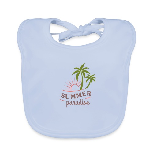 Summer paradise - Baby Organic Bib