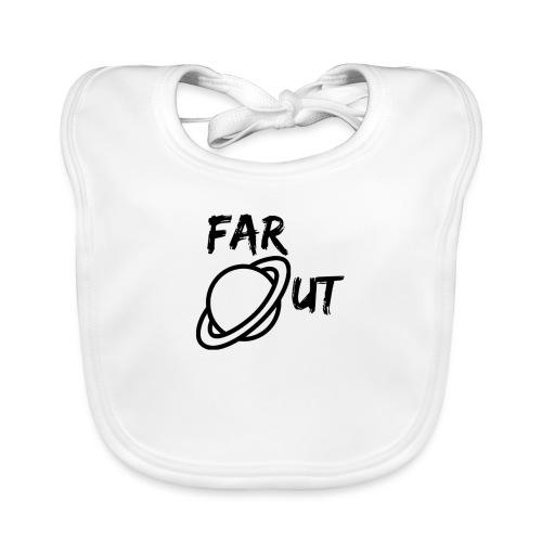 Far_Out_black - Babero de algodón orgánico para bebés