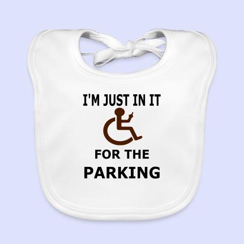 Ik zit in de rolstoel voor de parkeerplaatsen - Bio-slabbetje voor baby's