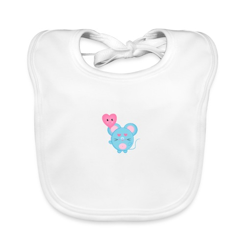 little mouse, mouse, mouse pad, little mouse, pink - Organic Baby Bibs