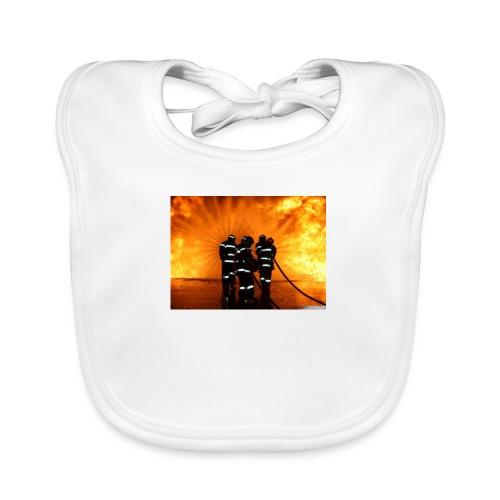 pompier vs flammes - Bavoir bio Bébé
