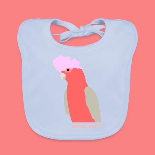 PINK CACATUA - Bavaglino ecologico per neonato