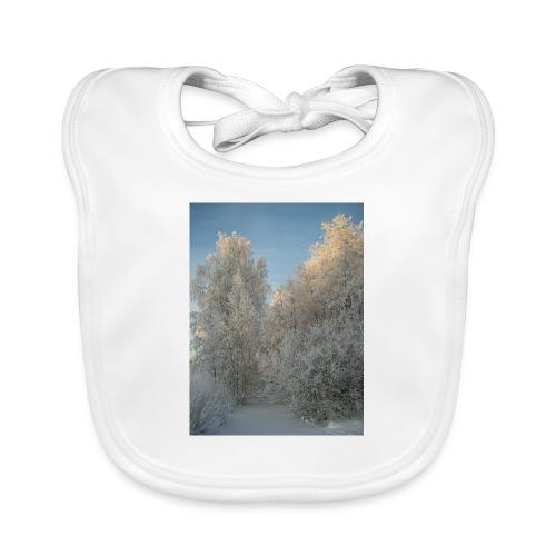 Talviset puut - Vauvan luomuruokalappu