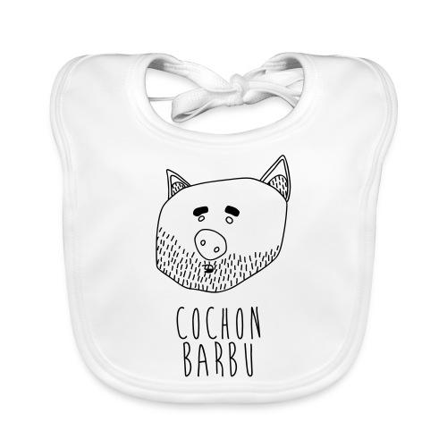 Cochon barbu - Bavoir bio Bébé