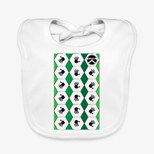 |K·CLOTHES| HEXAGON ESSENCE GREENS & WHITE - Babero de algodón orgánico para bebés