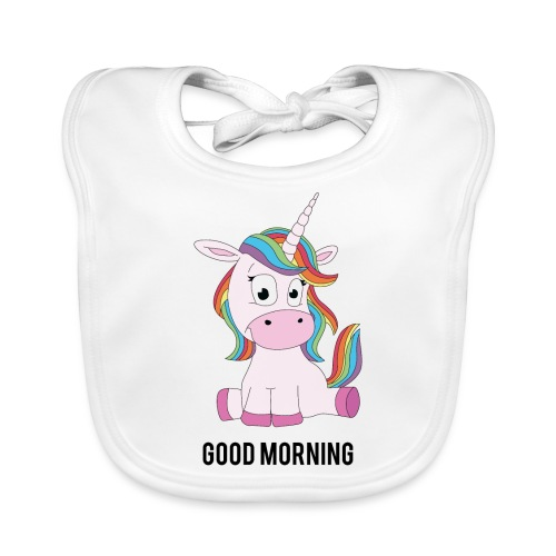 Good morning Unicorn - Bio-slabbetje voor baby's
