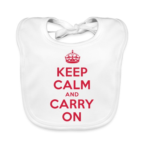 keep calm and carry on - Baby Bio-Lätzchen