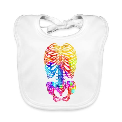 Swirly Skeleton - Baby Bio-Lätzchen