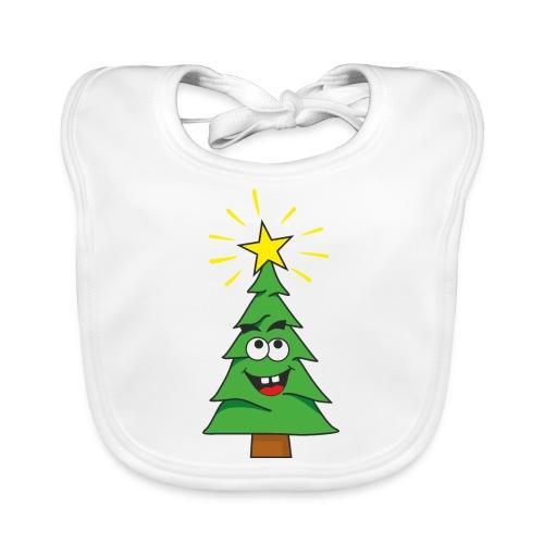 Árbol de navidad - Babero de algodón orgánico para bebés