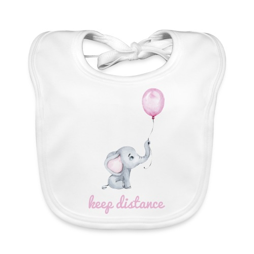 keep distance rosa - Baby Bio-Lätzchen