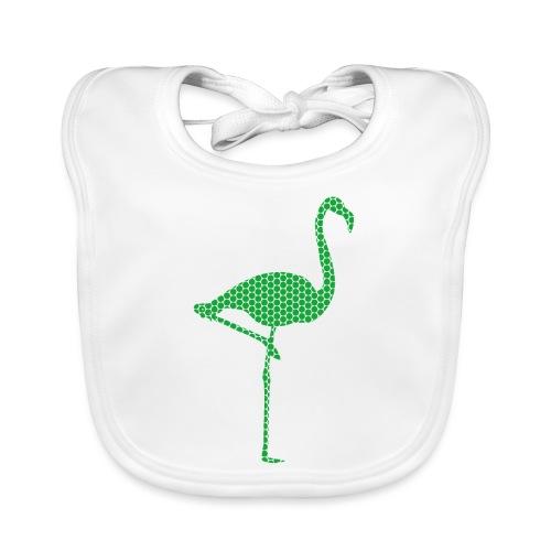 Flamingo Gruen - Baby Bio-Lätzchen