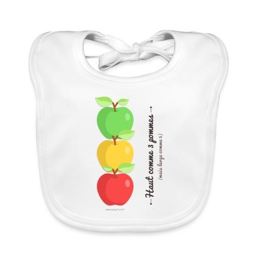 Haut comme 3 pommes (mais large comme 5) - Bavoir bio Bébé