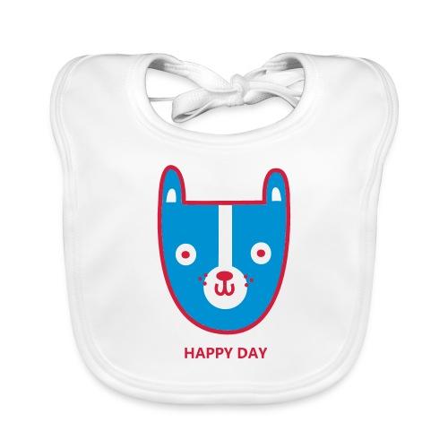 happy day 3 colour - Baby Organic Bib