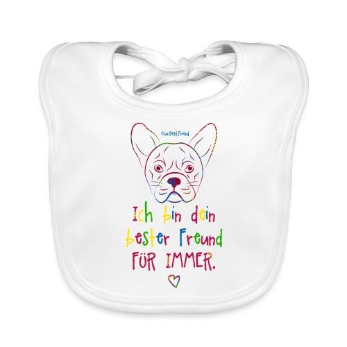 Bester Freund Frenchie - Französische Bulldogge - Baby Bio-Lätzchen