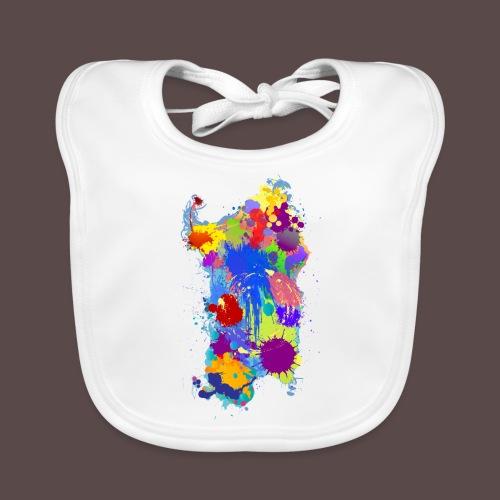 Sardegna Silhouette Paint - Bavaglino ecologico per neonato