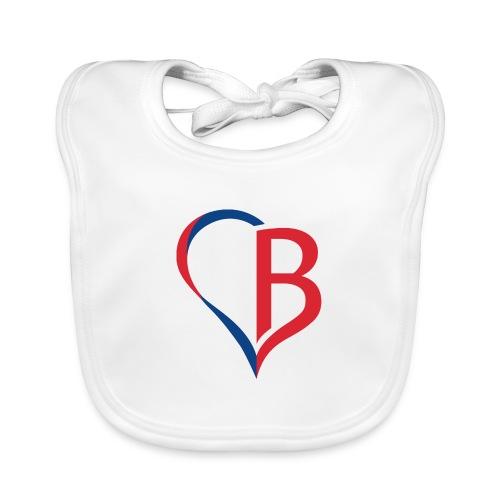 Logo Rot/Blau - Baby Bio-Lätzchen