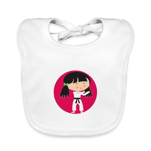 Happy Meitlis - Karate - Baby Bio-Lätzchen