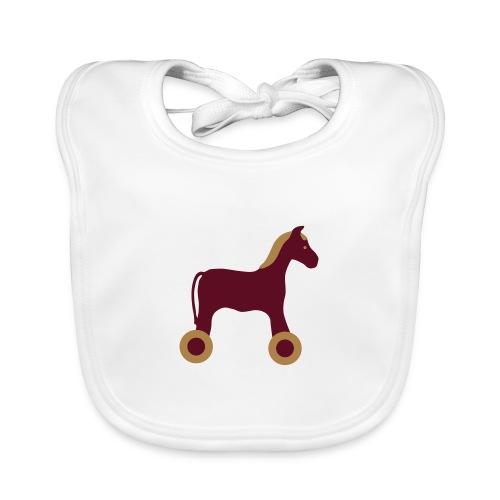 Nachziehtier Pferd Birth Geburt Birthday Baby - Baby Bio-Lätzchen